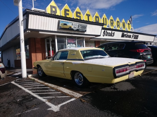 Route 66 Restaurant Yellow T-Bird